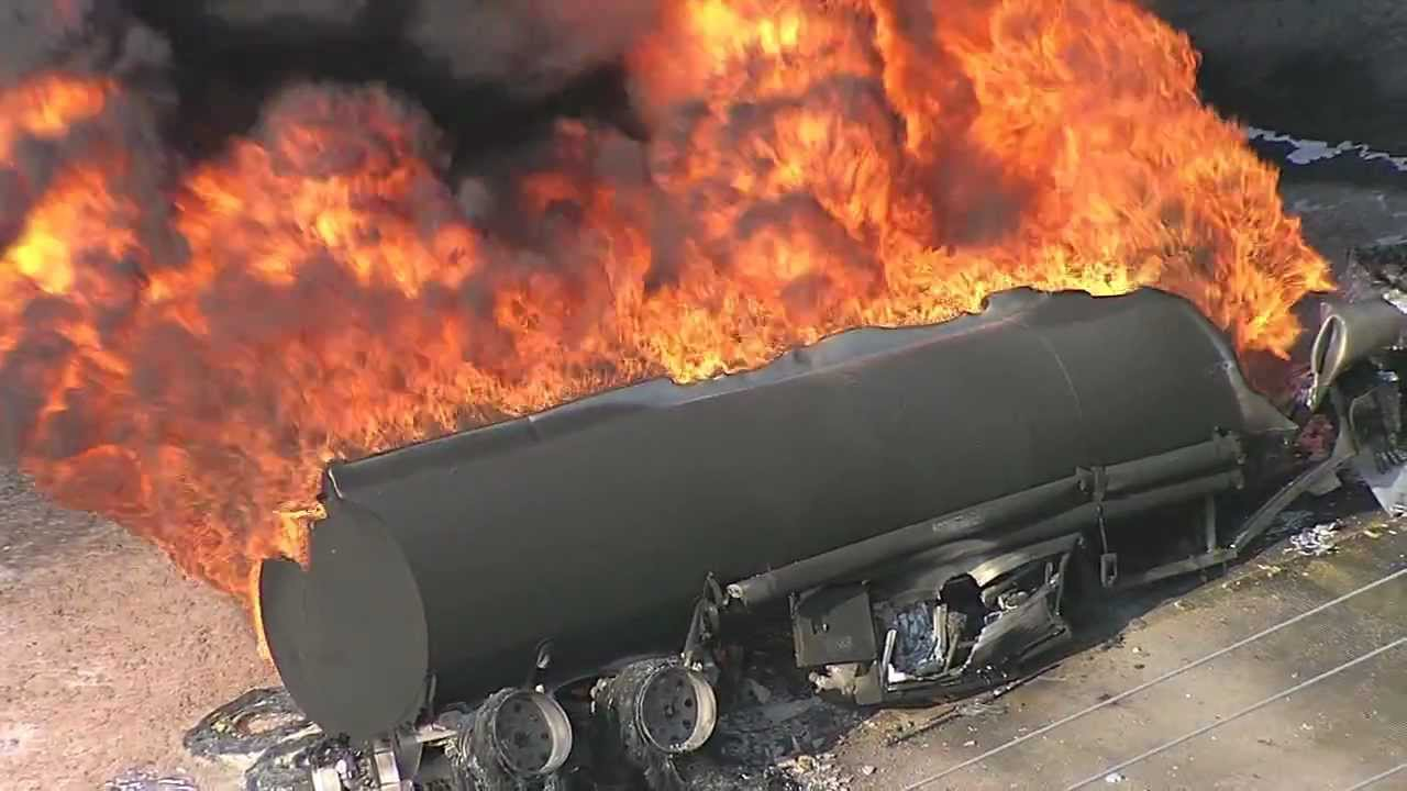 Petrol tanker catches fire in Lagos.