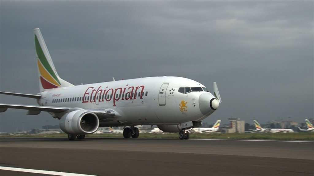 An Ethopian Airline Boeing Plane