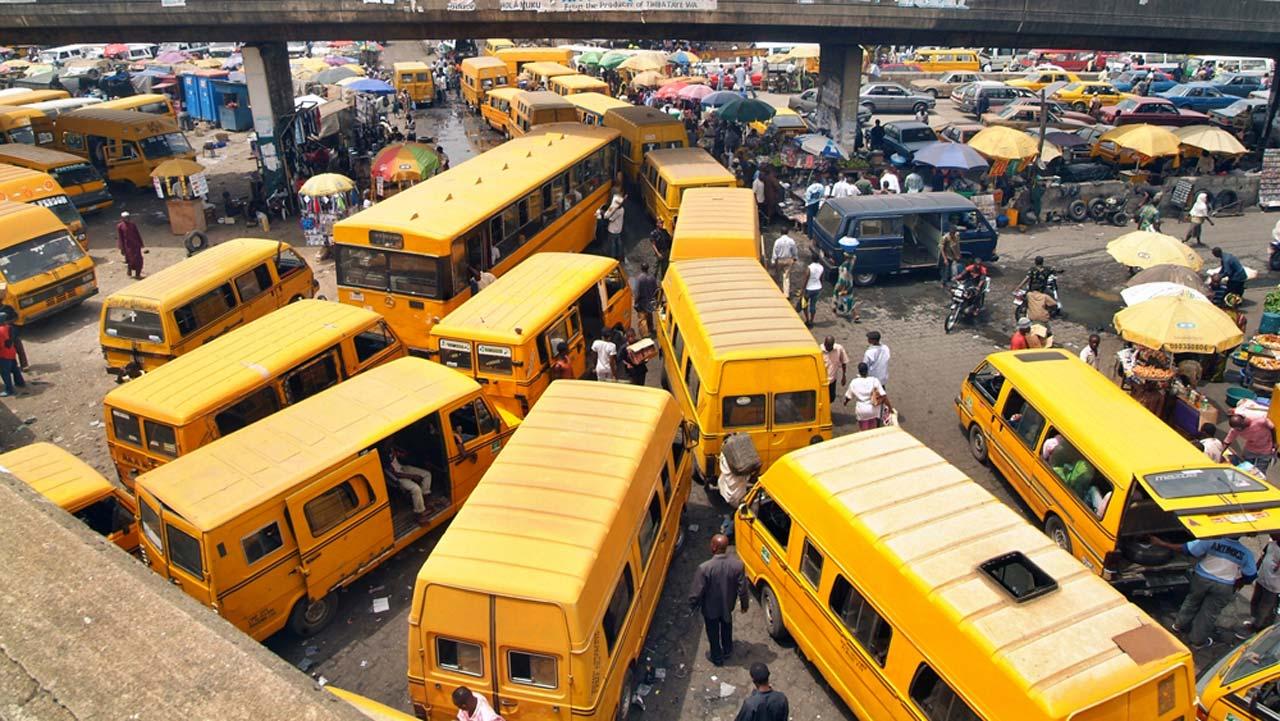 Motor Park in Lagos, Nigeria.