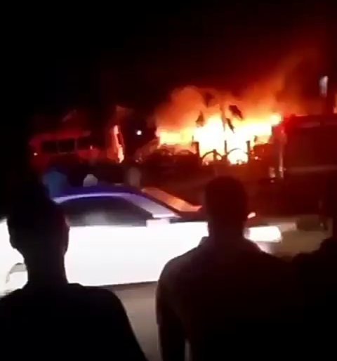Vehicle on Fire.