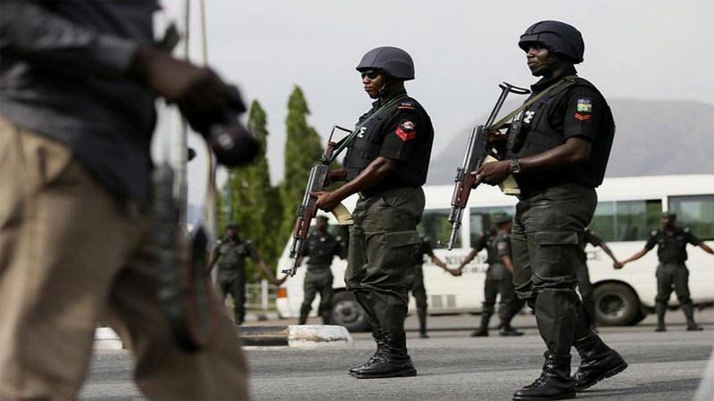 Nigeria Police Force officers.